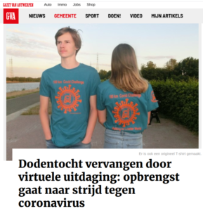 100Km Covid Challenge in Gazet van Antwerpen