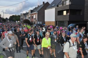 The departure of the 100Km Dodentocht in 2019